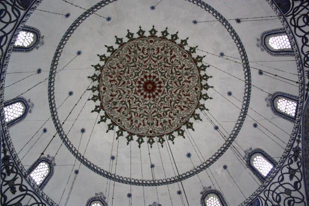 Mehmet Fatihin moskeijan sisäkaton mosaiikkia.
